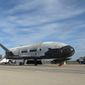 The Air Force X-37B Orbital Test Vehicle, a space drone that has flown clandestine missions since 2010, has captured the attention of the UFO community. (Associated Press/File)