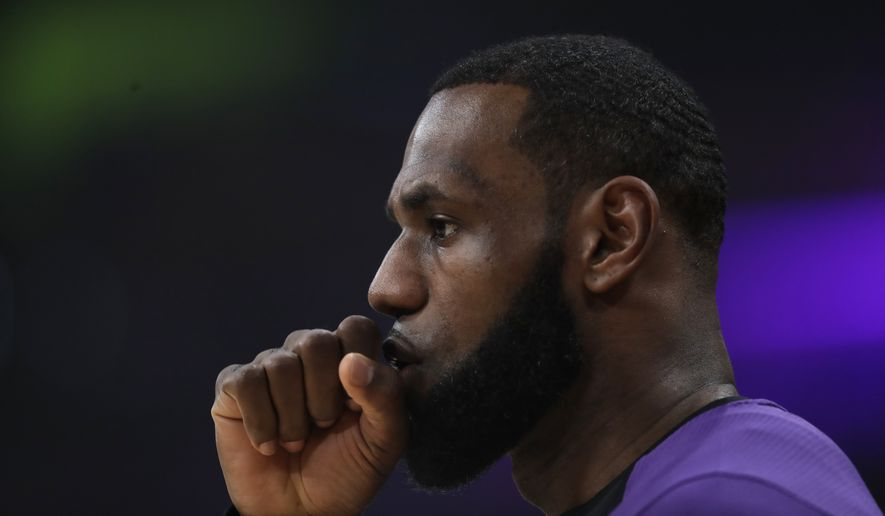 Los Angeles Lakers' LeBron James (23) warms up during an NBA basketball game against the Memphis Grizzlies Sunday, Dec. 23, 2018, in Los Angeles. (AP Photo/Marcio Jose Sanchez)