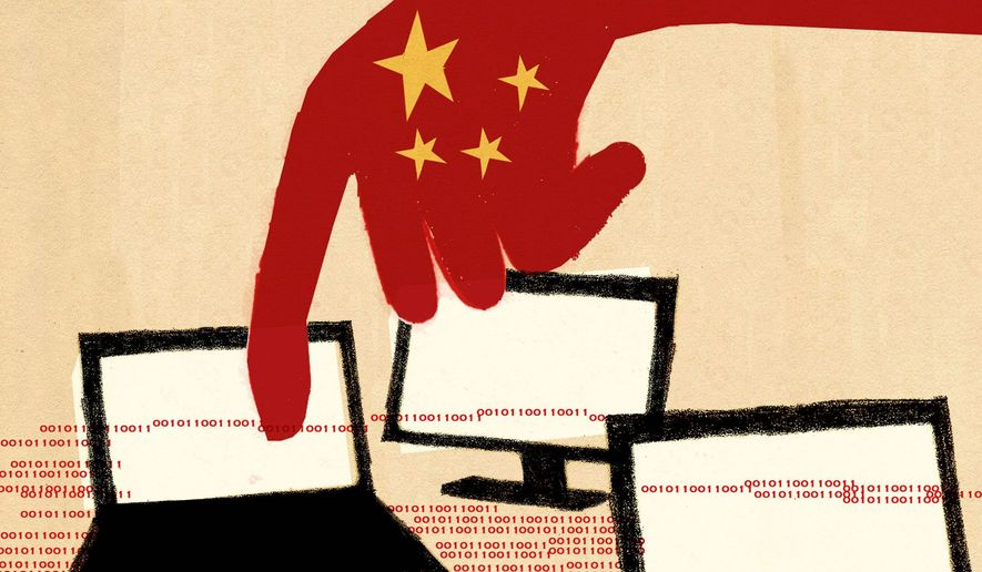 Illustration on dealing with Chinese theft of intellectual property by Donna Grethen/Tribune Content Agency