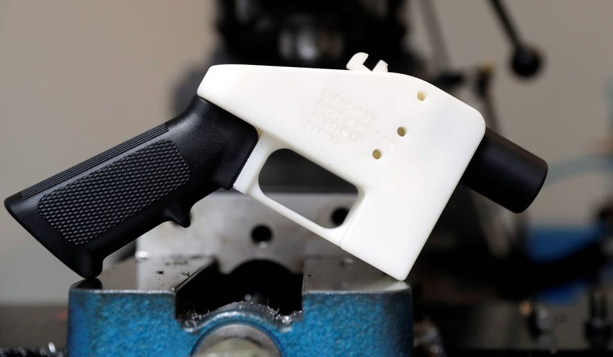 Free speech advocates say the blueprints for a 3D-printed gun are protected under the First Amendment and a federal judge's ruling to restrict distribution online is a violation of the Constitution. (Associated PRess) **FILE**