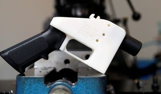 Free speech advocates say the blueprints for a 3D-printed gun are protected under the First Amendment and a federal judge's ruling to restrict distribution online is a violation of the Constitution. (Associated PRess)