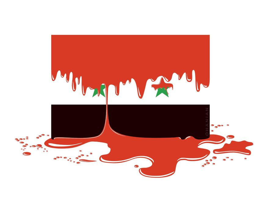 Illustration on the Syrian conflict by Nancy Ohanian/Tribune  Content Agency