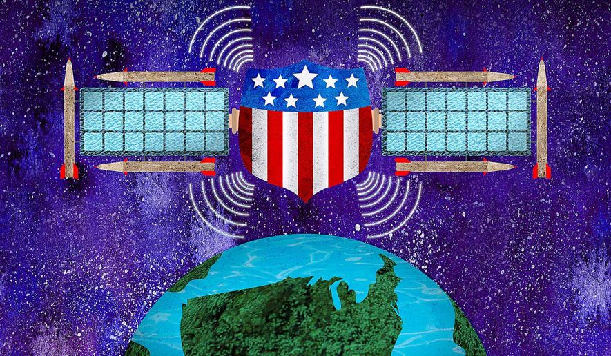 Space-based Missile Defense Illustration by Greg Groesch/The Washington Times