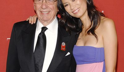 Wendi Deng and Rupert Murdoch, media mogul, News Corporation chairman and CEO.                 News Corp. Chairman and CEO Rupert Murdoch and wife Wendi Deng Murdoch  attend Time's 100 Most Influential People in the World Gala on Thursday, May 8, 2008 in New York. (AP Photo/Evan Agostini)
