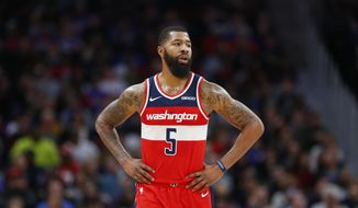 Washington Wizards forward Markieff Morris (5) during the second half of an NBA basketball game against the Detroit Pistons Wednesday, Dec. 26, 2018, in Detroit. The Pistons defeated the Wizards 106-95. (AP Photo/Duane Burleson) ** FILE **
