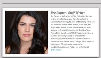 The Federalist writer and frequent Fox News guest Bre Payton died Friday after a sudden illness. She was 26. (The Federalist)