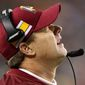 Washington Redskins coach Jay Gruden saw his team close their season with their sixth loss in their last seven games after they were shut out, 24-0, by the Philadelphia Eagles at home on Sunday. The Redskins were held to just 89 yards of offense. (Associated Press)