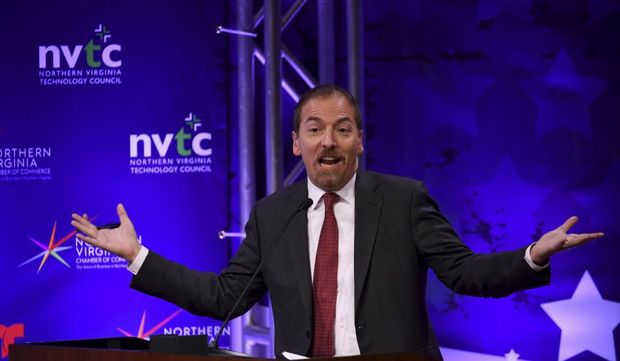 "Chuck Todd, host of NBC News' ""Meet the Press,"" said his show is ""not going to give time to climate deniers."" (Katherine Frey/The Washington Post via AP, Pool) ** FILE **"