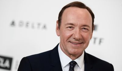 Kevin Spacey arrives at the 4th Annual Reel Stories, Real Lives Benefit held at Milk Studios on Saturday, April 25, 2015, in Los Angeles (Photo by Richard Shotwell/Invision/AP) ** FILE **