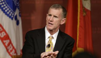 "Retired U.S. Army Gen. Stanley M. McChrystal has said President Trump is immoral and doesn't tell the truth. Mr. Trump responded by saying Gen. McChrystal is known for his ""big, dumb mouth."" (Associated Press/File)"