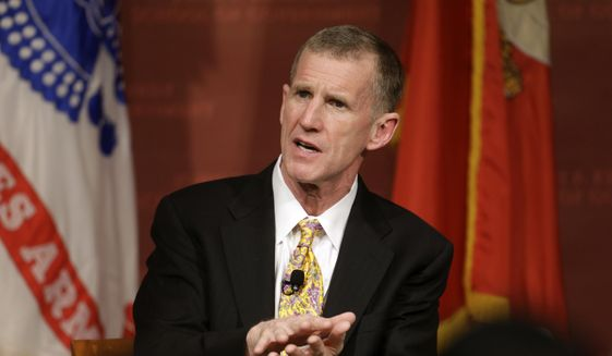 """Retired U.S. Army Gen. Stanley M. McChrystal has said President Trump is immoral and doesn't tell the truth. Mr. Trump responded by saying Gen. McChrystal is known for his """"big, dumb mouth."""" (Associated Press/File)"""