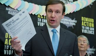 """""""I would have liked to have seen more applications for something other than just school security officers, but it's a good thing those grants are going out,"""" said Sen. Chris Murphy, Connecticut Democrat, who has pushed for gun control legislation. (Associated Press)"""