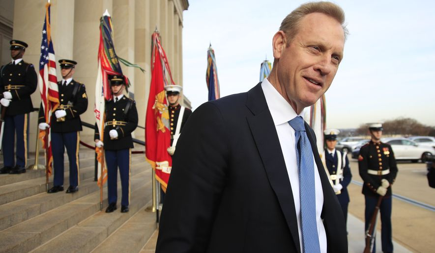 "Acting Defense Secretary Patrick Shanahan said in a statement, ""We have deep respect for Secretary Mattis' lifetime of service, and it has been a privilege to serve as his deputy secretary."" (Associated Press/File)"