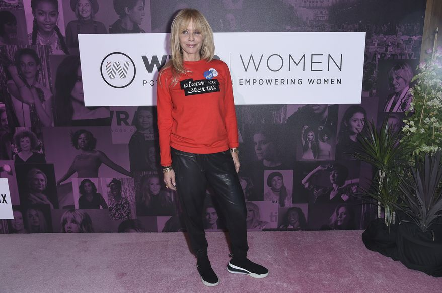 """Rosanna Arquette attends The Wrap's """"Power Women Summit"""" at the InterContinental on Thursday, Nov. 1, 2018, in Los Angeles. (Photo by Richard Shotwell/Invision/AP) ** FILE **"""