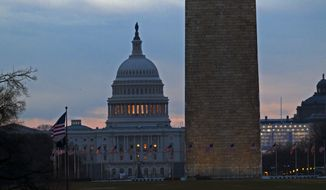 The U.S. Capitol is seen early in the morning in Washington, Tuesday, Jan. 1, 2019, as a partial government shutdown stretches into its third week. A high-stakes move to reopen the government will be the first big battle between Nancy Pelosi and President Donald Trump as Democrats come into control of the House.  (AP Photo/Jose Luis Magana)