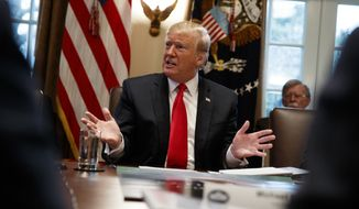 President Donald Trump speaks during a cabinet meeting at the White House, Wednesday, Jan. 2, 2019, in Washington. (AP Photo/Evan Vucci)