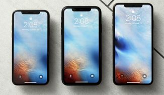 FILE - This Oct. 22, 2018, file photo shows the iPhone XS, from left, iPhone XR, and the iPhone XS Max in New York. Apple warns that disappointing iPhone sales will cause a significant drop in its revenue over the crucial holiday season compared to earlier projections. CEO Tim Cook made the announcement after the market closed Wednesday, Jan 2, 2019. (AP Photo/Richard Drew, File)