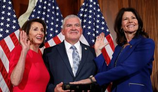 Illinois Rep. Cheri Bustos' name was called out four times on Thursday during a roll-call vote to elect a new House speaker. (Associated Press)