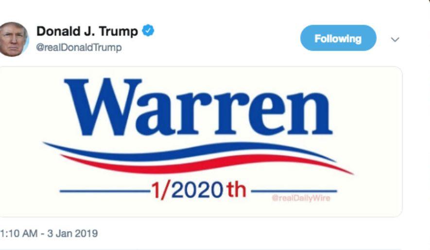 Trump Jabs Warren In Tweet Warren  Th