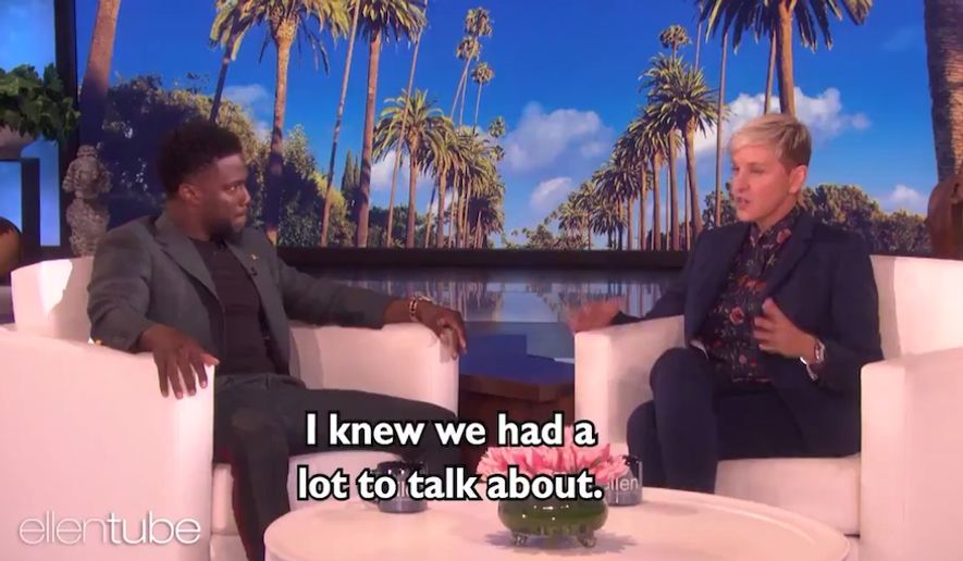 Ellen DeGeneres and comedian Kevin Hart discuss his decision to back out of the 2019 Oscars after he was given an ultimatum regarding old jokes at the expense of the LGBT community, Jan 3, 2019. (Image: Twitter, Ellen DeGeneres video screenshot)