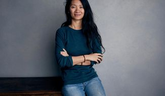 "FILE - This Jan. 22, 2018 file photo shows writer/director Chloe Zhao posing for a portrait to promote her film ""The Rider"" during the Sundance Film Festival in Park City, Utah. The National Society of Film Critics on Saturday, Jan. 5, 2019, has chosen Zhao's low-budget debut feature ""The Rider"" as best picture of 2018. (Photo by Taylor Jewell/Invision/AP, File)"