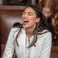 """Call me a radical,"" said Rep. Alexandria Ocasio-Cortez, New York Democrat, on ""60 Minutes."" She's frequently referred to as ""AOC."" (Associated Press)"