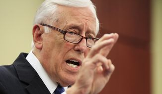 House Minority Whip Steny Hoyer, D-Md., speaks during a news conference about the tax cut on Capitol Hill in Washington, Friday, June 22, 2018. (AP Photo/Manuel Balce Ceneta) **FILE**