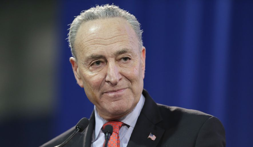 U.S. Sen. Chuck Schumer speaks during an inauguration ceremony for the new Attorney General of New York, Letitia James, in New York, Sunday, Jan. 6, 2019. (AP Photo/Seth Wenig) ** FILE **