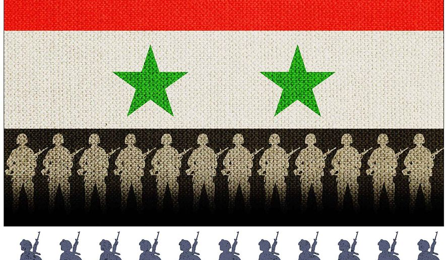 Syria Troop Removal Illustration by Greg Groesch/The Washington Times