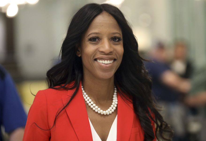 In this Nov. 6, 2018, file photo, Republican U.S. Rep. Mia Love walks to greets supporters during an election night party, in Lehi, Utah. Love has cut into Democratic challenger Ben McAdams' lead as vote-counting continues in the race that remains too close to call a week after Election Day. (AP Photo/Rick Bowmer, File)