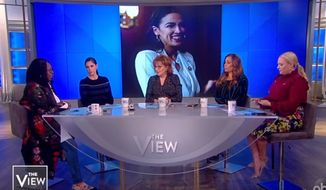 "Whoopi Goldberg of ABC's ""The View"" discusses newly elected Rep. Alexandria Ocasio-Cortez of New York, Jan. 7, 2019. (Image: YouTube, ""The View"" screenshot)"