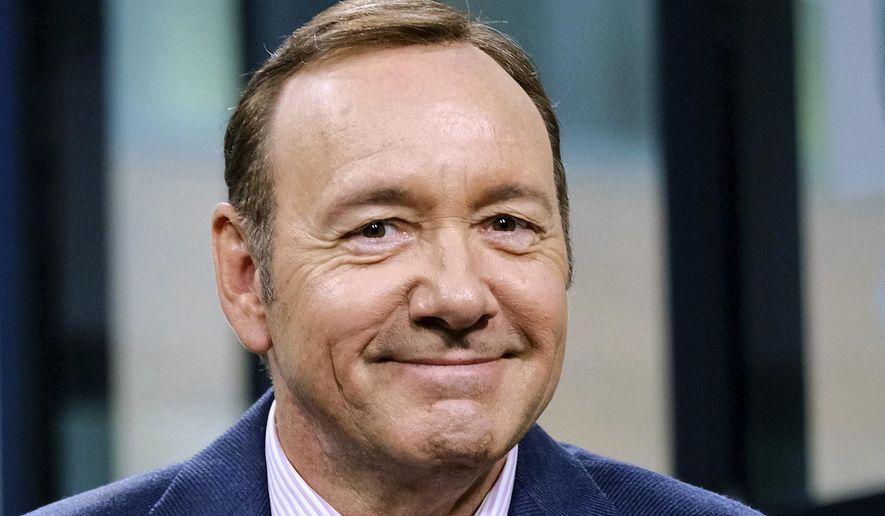 In this May 24, 2017, file photo, Kevin Spacey participates in the speaker series in New York. Spacey is set to appear in court Monday, Jan. 7, 2019, on accusations that he groped an 18-year-old man in 2016. (Photo by Evan Agostini/Invision/AP, File)