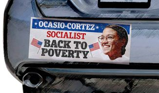 Socialist Bumper Sticker Illustration by Greg Groesch/The Washington Times