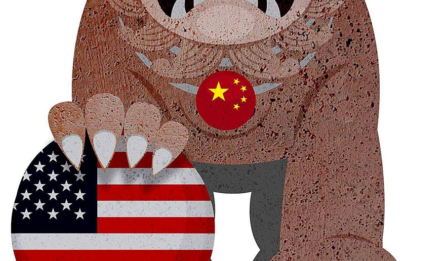 China Treatment of American Market Interests Illustration by Greg Groesch/The Washington Times