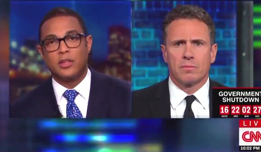 "CNN's Don Lemon suggests President Trump should have his addresses to the nation delayed as a means of editing out ""propaganda,"" Jan. 7, 2019. (Image: CNN screenshot)"