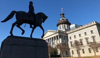 The South Carolina Statehouse is shown in this January 2019 file photo. (AP Photo/Jeffrey Collins) **FILE**