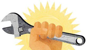 Trump Jobs Illustration by Greg Groesch/The Washington Times