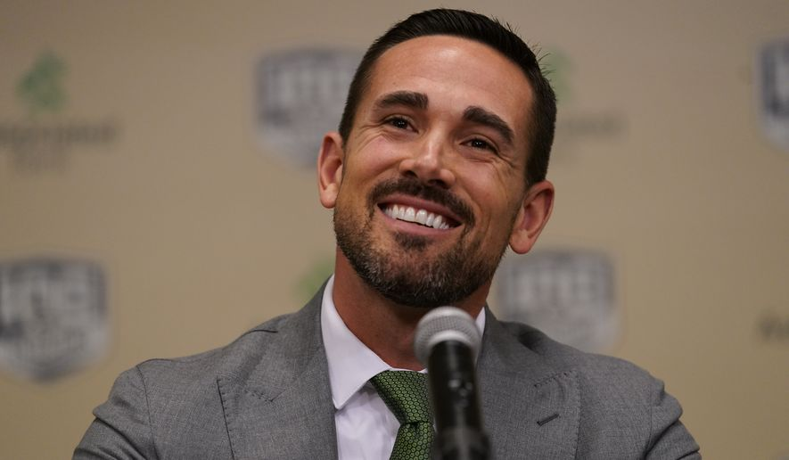 ceb8090a1 Green Bay Packers head coach Matt LaFleur is introduced at a news  conference Wednesday