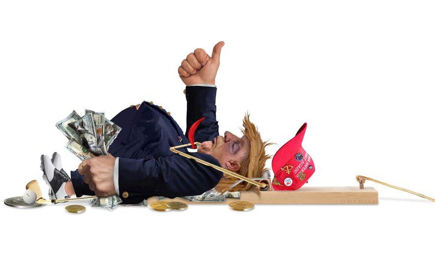 Illustration on President Trump's tenacious attitude by Nancy Ohanian/Tribune Content Agency