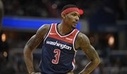 Washington Wizards guard Bradley Beal (3) stands on the court during the first half of an NBA basketball game against the Philadelphia 76ers, Wednesday, Jan. 9, 2019, in Washington. (AP Photo/Nick Wass) **FILE**