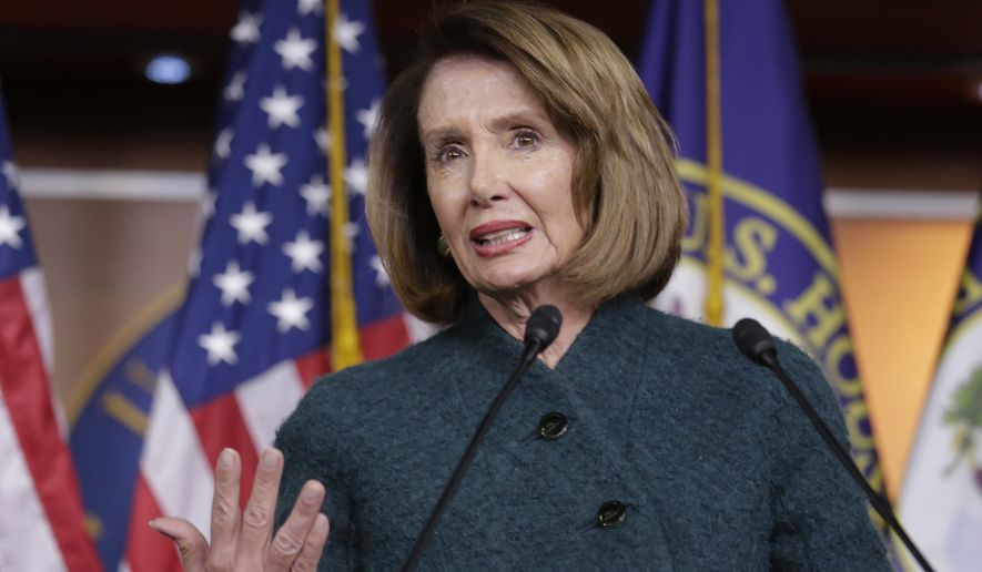 Speaker of the House Nancy Pelosi, D-Calif., meets with reporters in her first formal news conference since taking control of the House with the Democrats in the majority, on Capitol Hill in Washington, Thursday, Jan. 10, 2019, the 20th day of a partial government shutdown. President Donald Trump threatened today to declare a national emergency to circumvent Pelosi and Congress if he can't reach a deal with Democrats to fund his promised border wall. (AP Photo/J. Scott Applewhite)