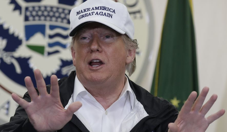 President Donald Trump speaks at a roundtable on immigration and border security at U.S. Border Patrol McAllen Station, during a visit to the southern border, Thursday, Jan. 10, 2019, in McAllen, Texas. (AP Photo/ Evan Vucci)