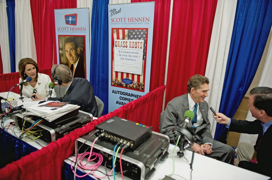 Radio row at Conservative Political Action Conference (CPAC) held at the Marriott Wardman Park, Washington, DC, Thursday, February 9, 2012.  (The Washington Times)