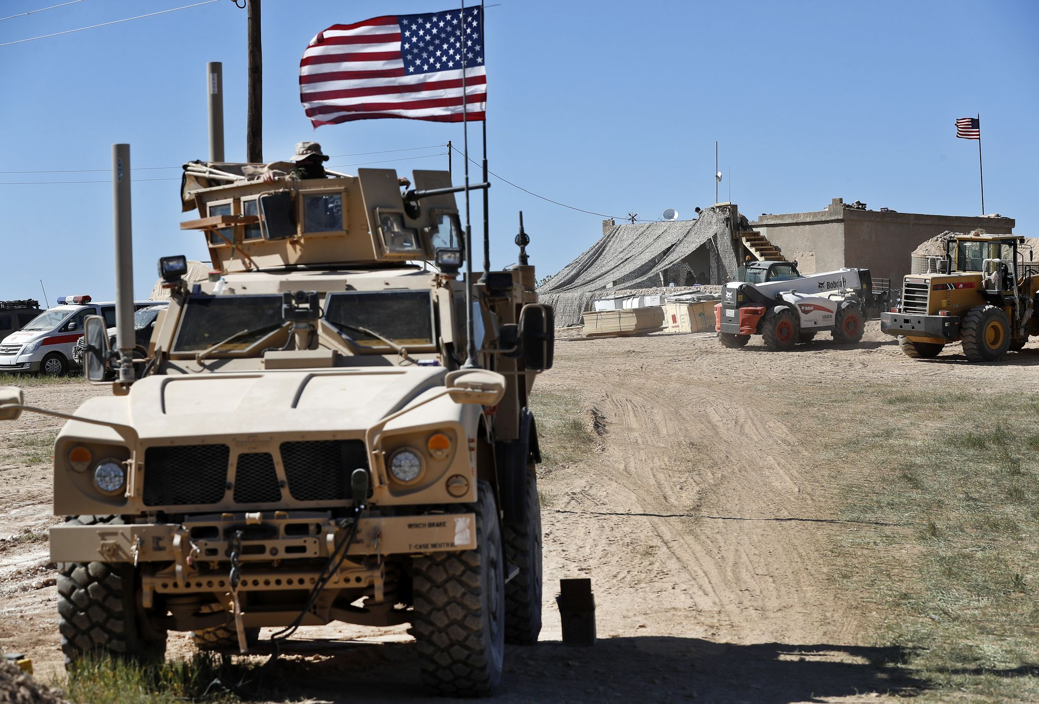 First signs of Trump's Syria pullout spotted on ground