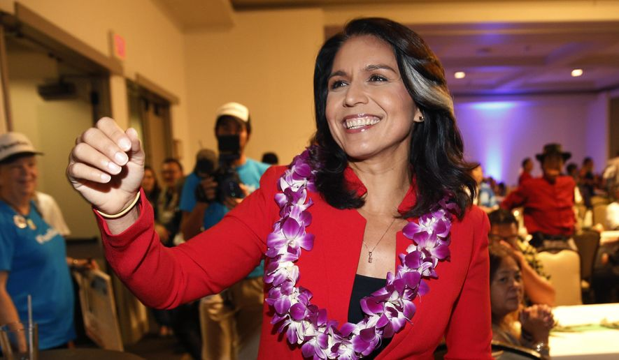 Tulsi Gabbard, D-Hawaii, greets supporters in Honolulu. Gabbard has  announced she's running for president in 2020. The 37-year-old Gabbard said  in a CNN ...
