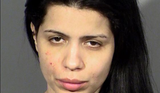 """This undated Clark County Detention Center booking photo shows Larissa Dos Santos Lima, 32, of Brazil. Las Vegas police say she was arrested on a misdemeanor domestic battery charge early Friday, Jan. 11, 2019, at a home east of the Las Vegas Strip where she was accused of attacking her husband. Dos Santos Lima and husband Colt Johnson are featured on on the TLC show """"90 Day Fiance."""" (Clark County Detention Center/Las Vegas Metropolitan Police Department via AP)"""