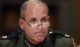 "Mark Morgan, seen here in 2016 testifying before Congress as U.S. Border Patrol Chief, has come forward to publicly support President Trump's proposal for border security ""100 percent"" he said Saturday. (Associated Press)"