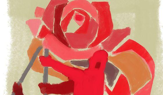Illustration on the romanticizing of Socialism by Linas  Garsys/The Washington Times