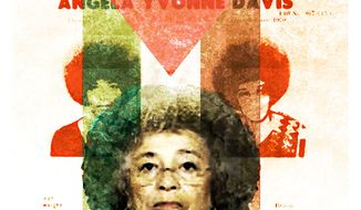 Illustration on Angela Davis by Alexander Hunter/The Washington Times