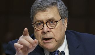 Attorney General nominee William Barr testifies before the Senate Judiciary Committee on Capitol Hill in Washington, Tuesday, Jan. 15, 2019. (AP Photo/Carolyn Kaster)